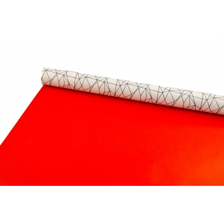 Double-sided paper 0.7 * 10yard White geometry + red