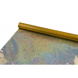 """Плівка металізована 0,7 м х 9 м """"Золота голограма"""""""