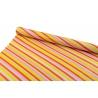"""Папір крейдований 0,7м*10ярд """"Діагональні смужки"""" рожеві, червоні, жовті"""