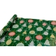 "New Year's paper 0.7 * 10yard ""Christmas toys"" on green"