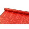 New Year's paper 0.7 * 10yard Green Fir Trees on Red