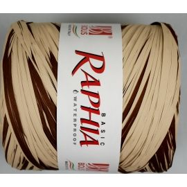 Raffia Italy 200m chocolate+ beige