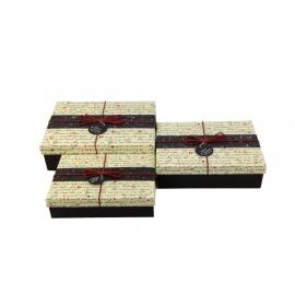 Набір коробок для подарунків з 3 шт 08195-64 Лист на білому