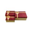 Набор картонных коробок для подарков с 3 шт B18-43