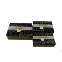 Набір коробок для подарунків з 3 шт 08195-65 Лист на чорному