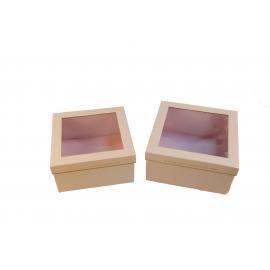 Набір коробок з прозорою кришкою Рожеві 2 шт. KCYJ-1