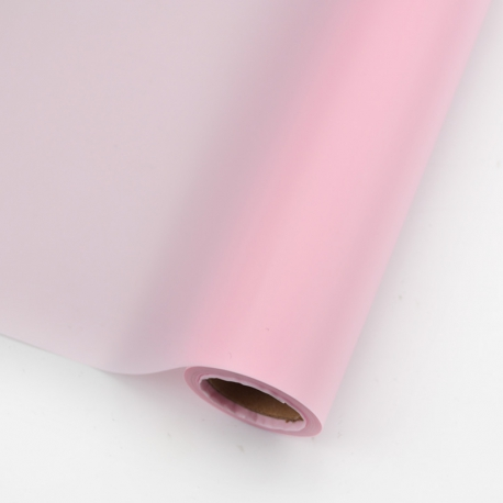 The film is matte in a roll of 60 cm * 10 yards P.HX.0600-165 Light Pink