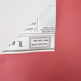 Плівка двостороння в рулоні 0.6 х 8м газета P.OY-002-012 Red+White