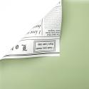 Плівка двостороння в рулоні 0.6 х 8м газета P.OY-002-081 Lime Juice+White