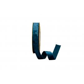 Стрічка бархатна 2,5см*20ярд DX-0628-016 Синя