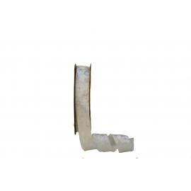 Стрічка бархатна 2,5см*20ярд DX-0628-001 Біла