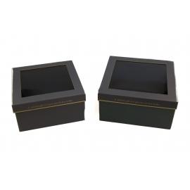Набір коробок з прозорою кришкою 2 шт. KCYJ-3