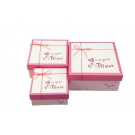 Набор коробок для подарков с 3 шт JKZ-27