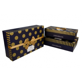 Set of rectangular cardboard boxes TC02-1 for gifts from 3 pieces