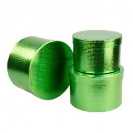 Set of tubes metal green 3 pieces 3355