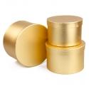 Набор тубусов металл золотые 3 шт 3355