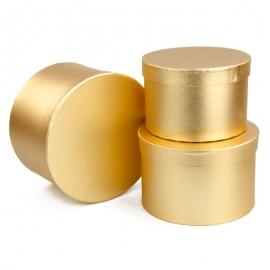 Set of tubes metal gold 3 pieces 3355