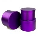 Set of tubes metal violet 3 pieces 3355