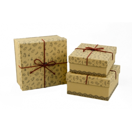 Set of boxes for gifts from 3 pieces 05080-10