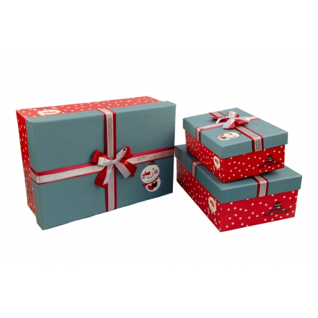 Set of boxes for gifts from 3 pieces 10241-11