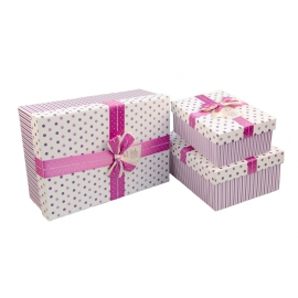 Set of gift boxes with 3 pieces 10241