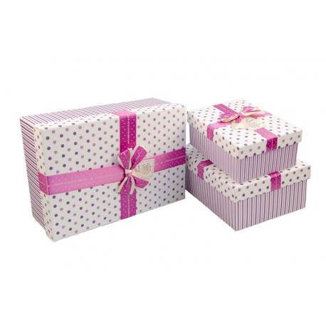 Набор коробок для подарков с 3 шт 10241