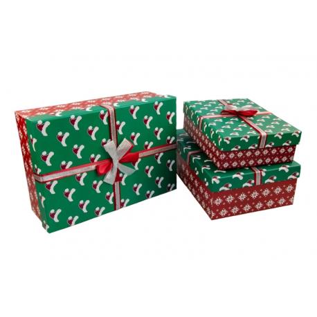 Набір коробок для подарунків з 3 шт 91307-5