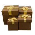 Набор кубических коробок для подарков с 4 шт 08302-20