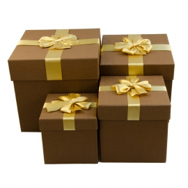 Set of cubic boxes for gifts from 4 pieces 08302-20