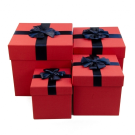 Set of cubic boxes for gifts from 4 pieces 08302-22
