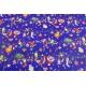 Бумага мелованная двусторонняя 0,7 * 10ярд Новогодний Синий + Красный