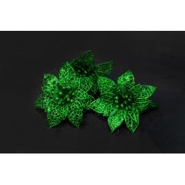 Штучні головки квітів пуасетія зелена