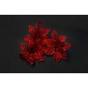 Искусственные головки цветов пуансеттия красная