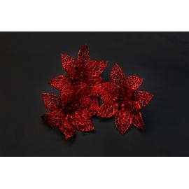 Штучні головки квітів пуасетія червона