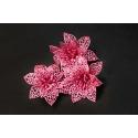 Штучні головки квітів пуансетія рожева