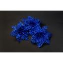 Штучні головки квітів пуансетія синя