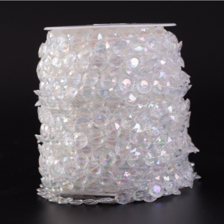 """Акрилові буси """"Діамант"""" в рулоні 10 мм * 30 м"""