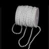 Акрилові буси білі в рулоні 6 мм * 25 м