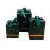 Набір кубічних коробок для подарунків з 3 шт #136 зелені