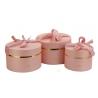Набір круглих коробок з 3 шт #084-1 рожеві