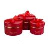 Набір круглих коробок з 3 шт #084-1 червоні