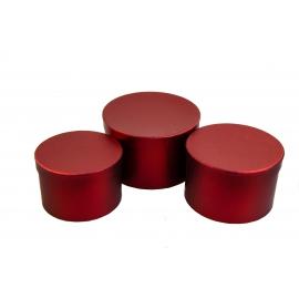 Набір тубусів метал червоні 3 шт 3355