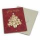 Поздравительная открытка с конвертом новогодняя с деревом CS-2002
