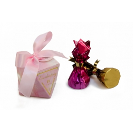 Бонбоньєрка для цукерок 105-4011 рожева
