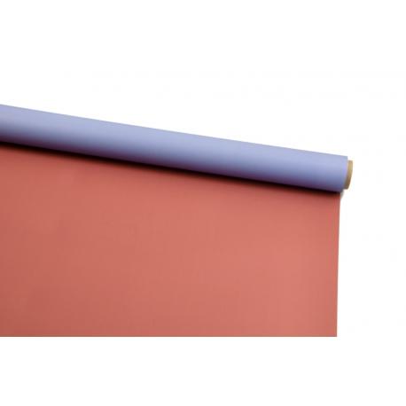 Пленка двусторонняя в рулоне 0,6х8 м P.OY-013 Blue Smoke + Cinnabar