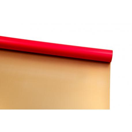 Пленка двусторонняя в рулоне 0,6х8 м P.OY-02 Gold + Red