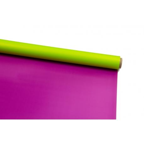 Плівка двостороння в рулоні 0,6х8 м P.OY-13 Lime Juice + Purple