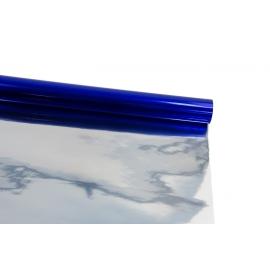 Пленка металлизированная 0,7 м х 9 м двусторонняя (синий + серебро)