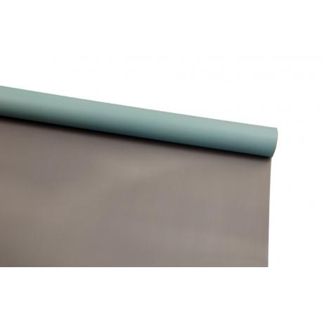 Film opaque bilateral in a roll of 0,6 x 8 m P.OY-133 Dusty Silver + Tiffany Blue