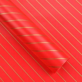 Плівка двостороння в рулоні 0,6 х 8 м діагональ P.MD-001-012 Red